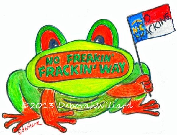 no fracking frog