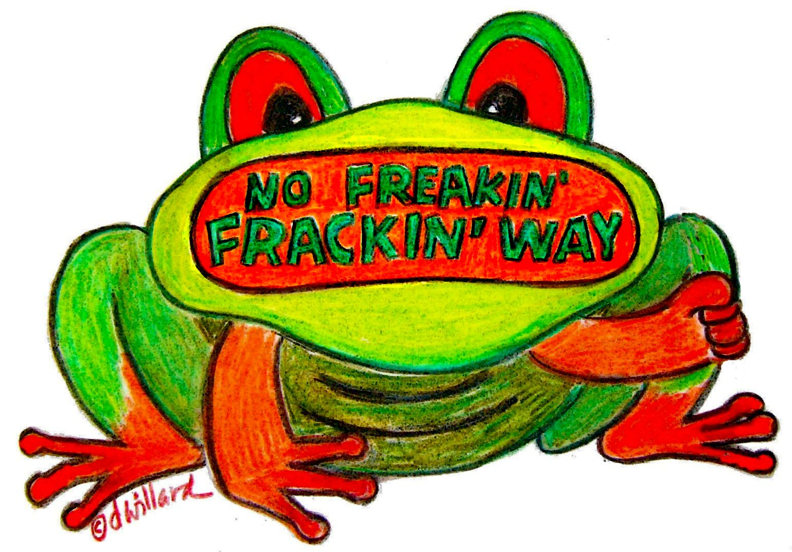 No Fracking Frog no NC