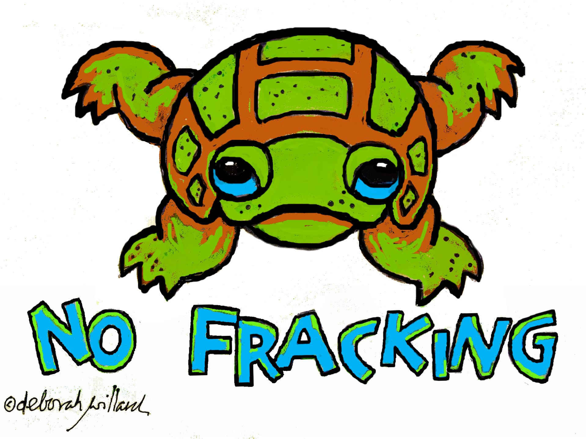 no-fracking-turtle